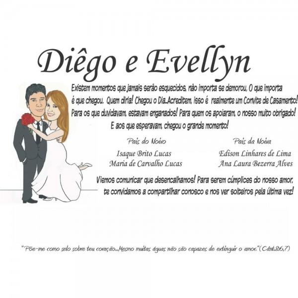 Barato e bom!!!convite de casamento com caricatura grátis!!! r