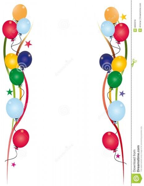 Branco do convite do aniversário ilustração do vetor
