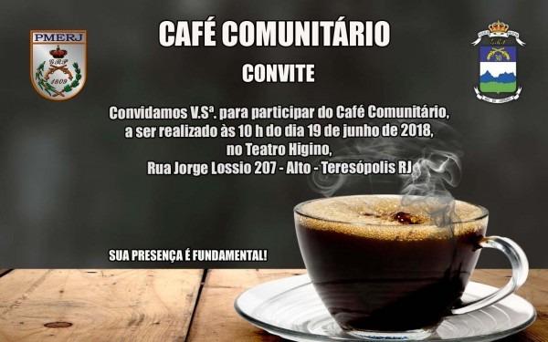 Polícia militar promove mais uma edição do café comunitário em