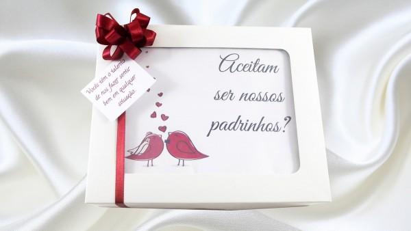 Caixa convite padrinhos