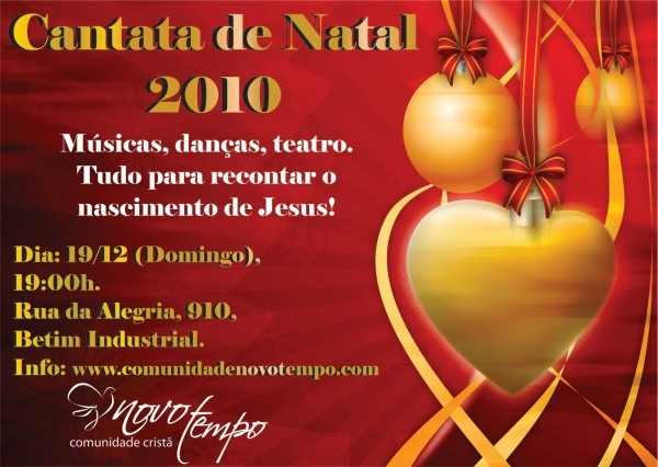 Novo tempo  convite  cantata de natal