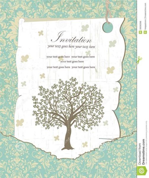 Cartão do convite da reunião de família ilustração do vetor