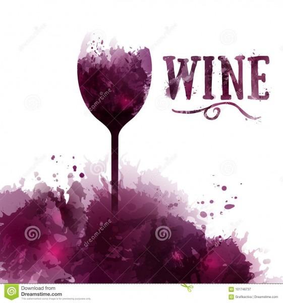 Carta de vinhos, convite, evento ou partido do molde vinho em