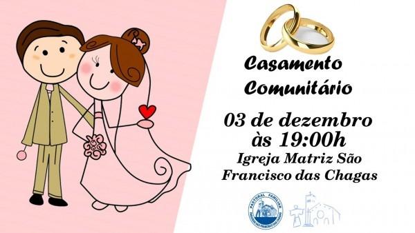 Hoje é dia de casamento comunitário na matriz fraciscana