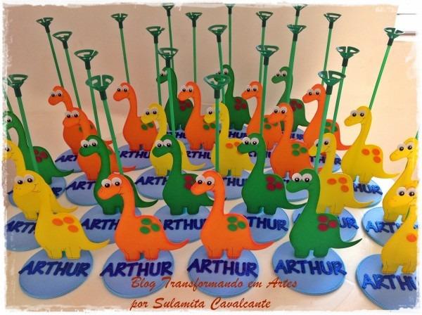 Transformando em artes  centro de messa dinossauros