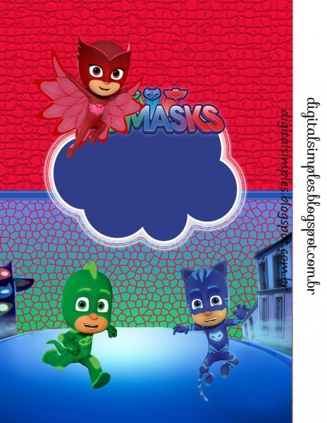 Kit digital free aniversário  pj masks