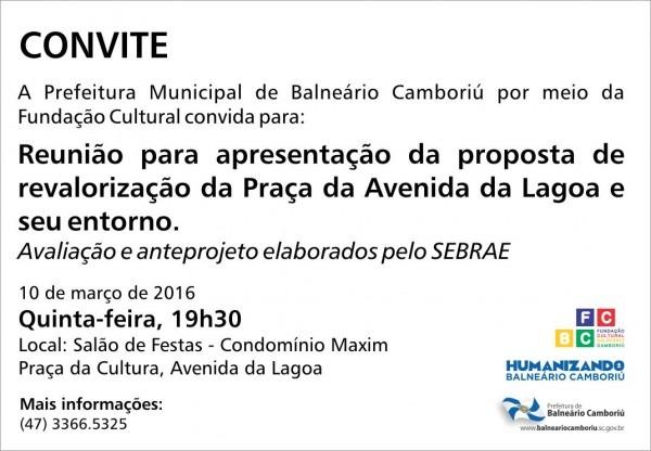 Convite – reunião de apresentação de projeto