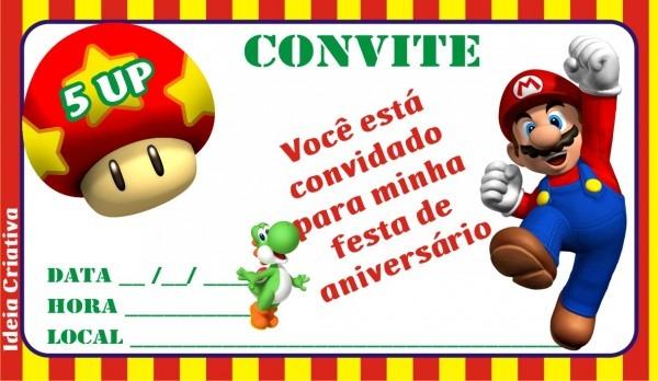 Convites de aniversário e festas infantis   convite para imprimir