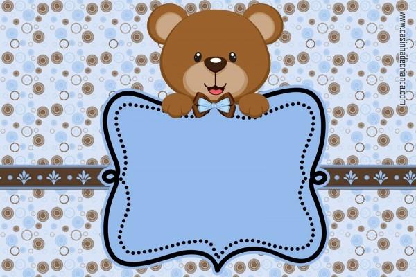Casinha de criança  kit chá de bebê ursinho marrom e azul