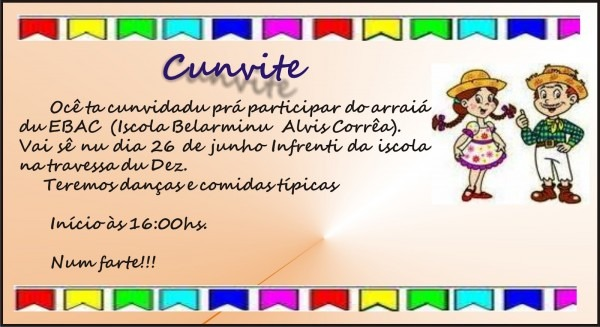 Escola municipal belarmino alves corrêa  festa junina ebac