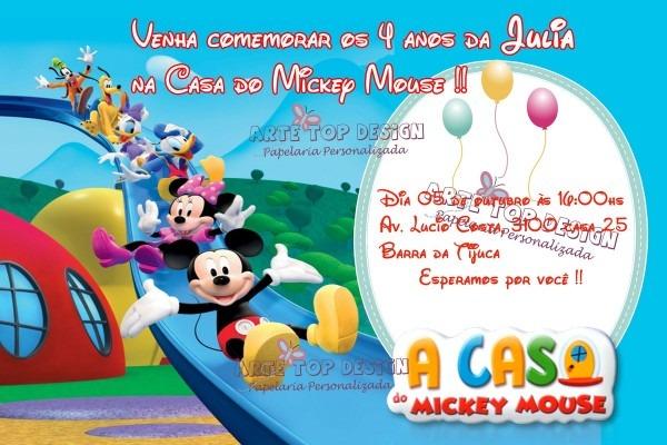 Convite a casa do mickey no elo7