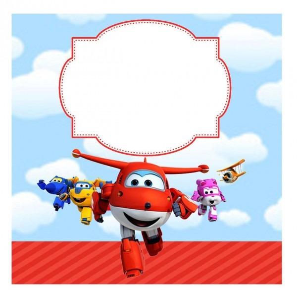 Convite a super wings + envelope no elo7