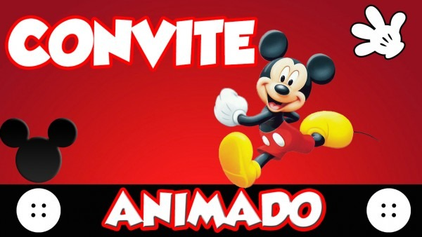 Convite animado infantil2 no elo7