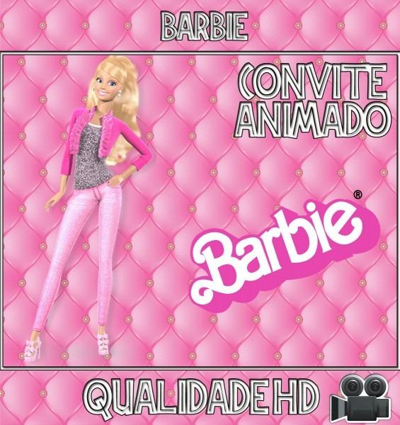 Convite animado (vídeo) aniversário barbie no elo7