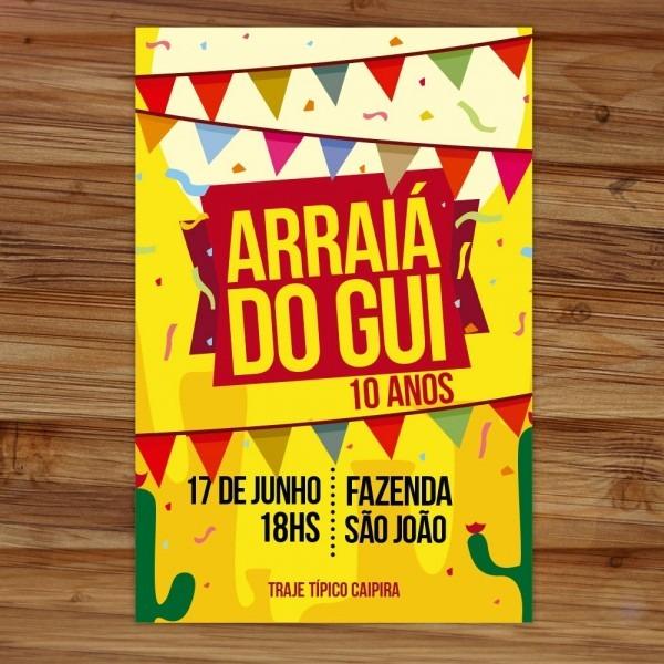 Convite aniversário tema festa junina arraía