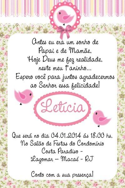 Convite aniversario