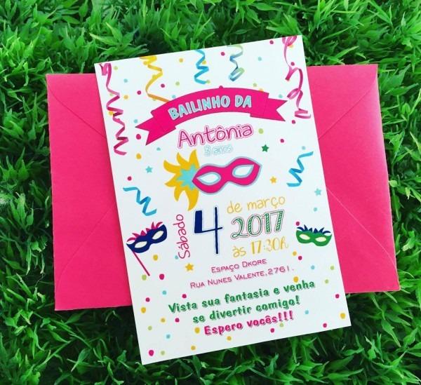 Convite baile de carnaval no elo7