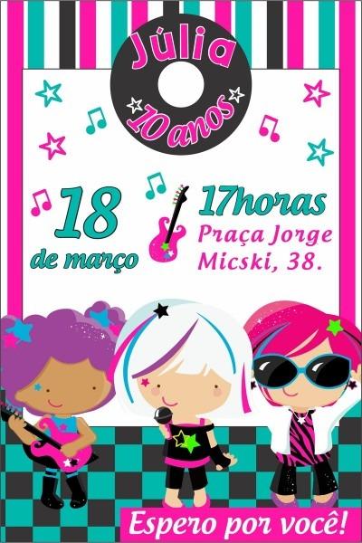 Convite digital balada no elo7