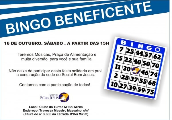 Portfólio priscilla mendes  bingo beneficente