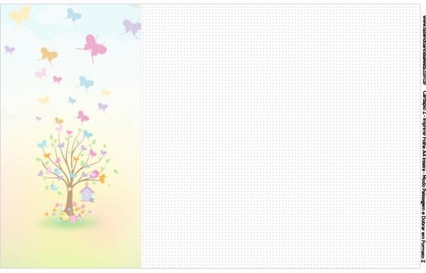 Convite, cardapio ou cronograma em z jardim das borboletas