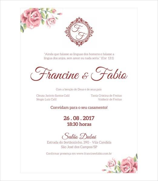 Convite casamento express 08 no elo7