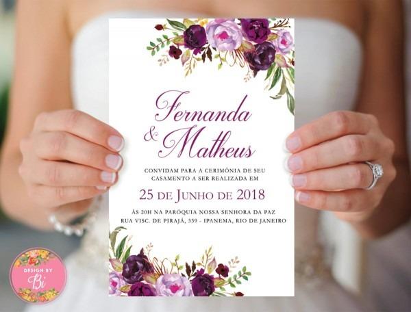 Convite casamento ultra violet lilás roxo no elo7