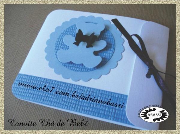 Adri convites artesanais  convite chá de bebê