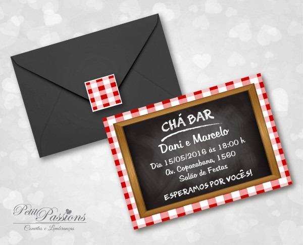 Convite chá bar boteco