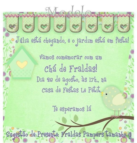 Convite chá de fraldas no elo7