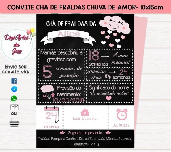 Convite chuva de amor (benção)