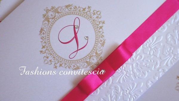 Convite de 15 anos fashions convites cia no elo7