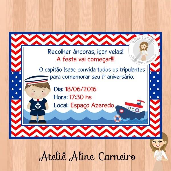 Convite de aniversario marinheiro 8 » happy birthday world