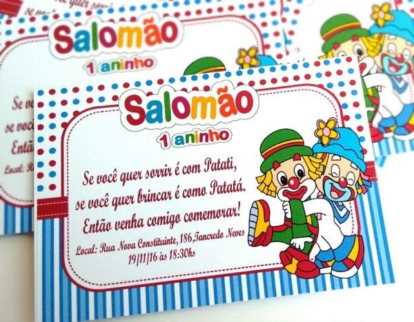 Convite digital festa patati patata em mg