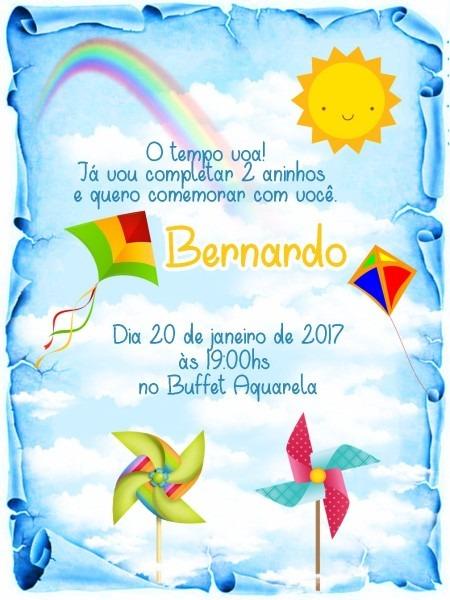 Convite de aniversario tema pipa 3 » happy birthday world