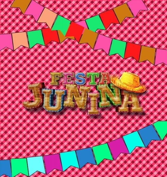 Convite de aniversário virtual animado festa junina em vídeo no
