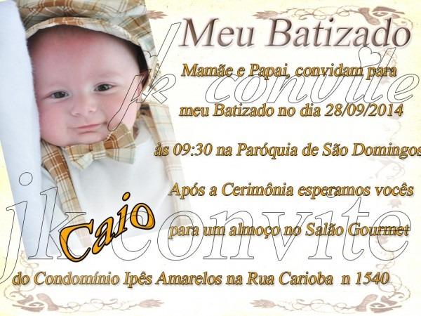 Convite de batizado no elo7
