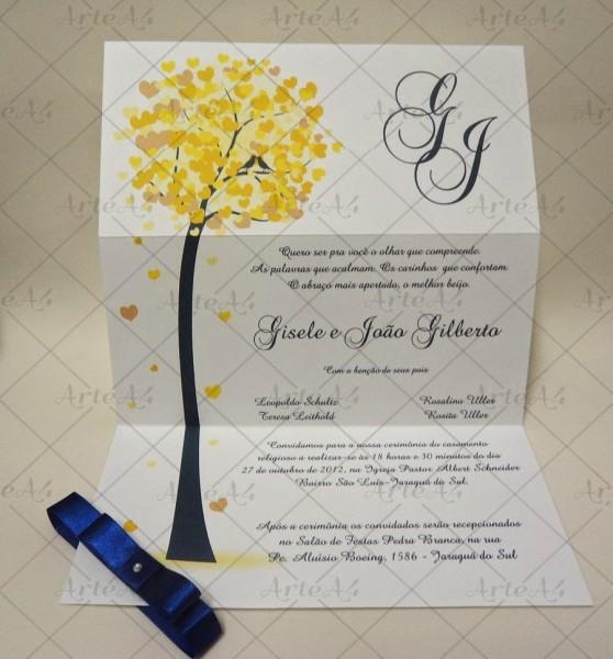 Diy  imagens Árvores e biclietas para convites de casamento!