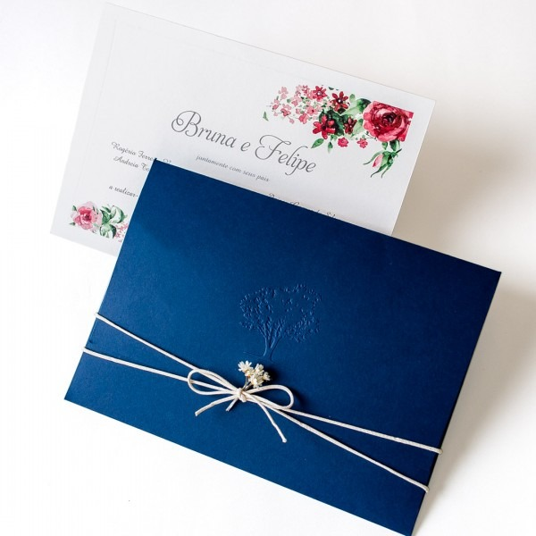 Convite de casamento rustico para casamento no campo