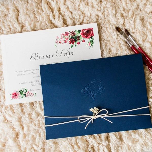 Convite de casamento em azul marinho (5)