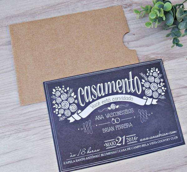 Convite de casamento express no elo7