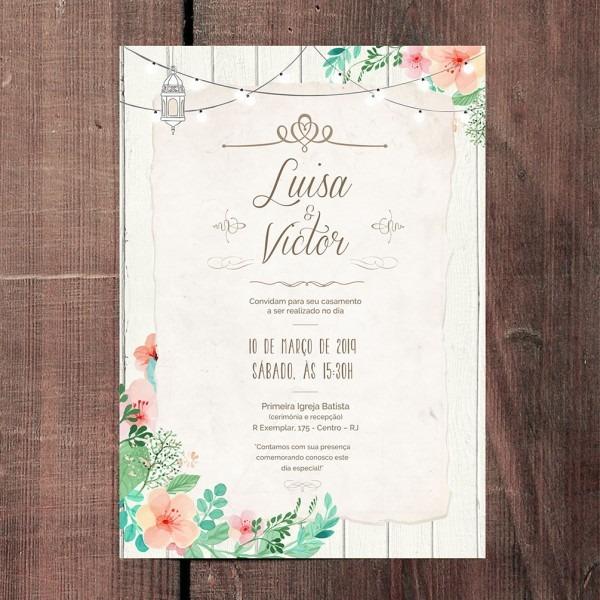 Convite de casamento rustic light white – papel e letra convites