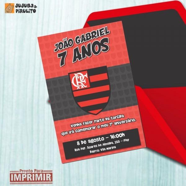 Convite digital aniversÁrio flamengo 06 no elo7