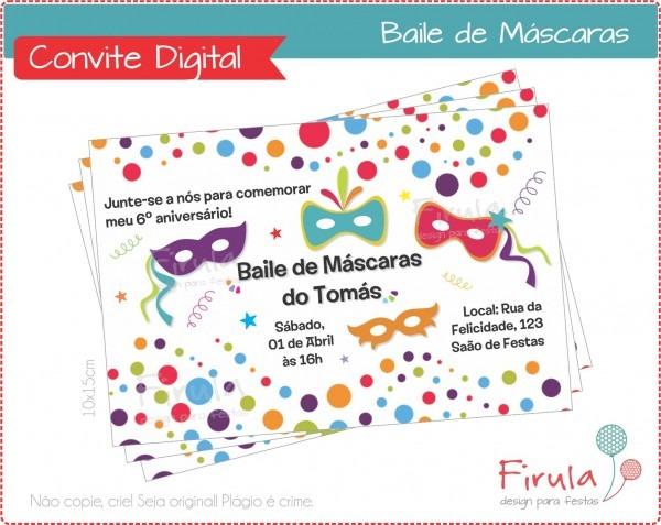 Convite bailinho carnaval