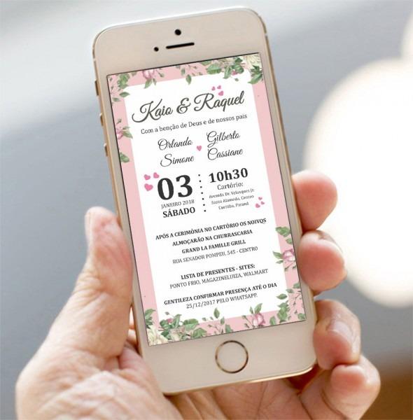 Convite digital casamento civil no elo7