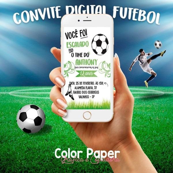 Convite digital futebol whatsapp
