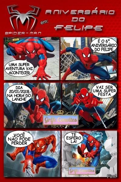 Convite digital homem aranha