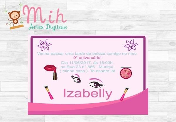 Convite digital maquiagem zap