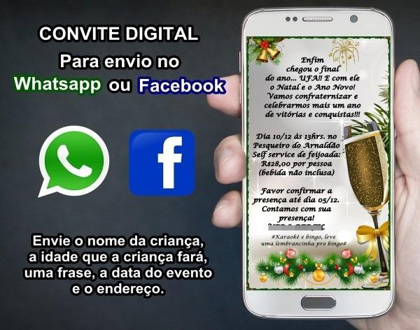 Convite digital p festa de fim de ano churrasco amigo oculto no