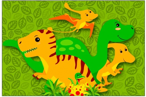 Convite dinossauro cute 3