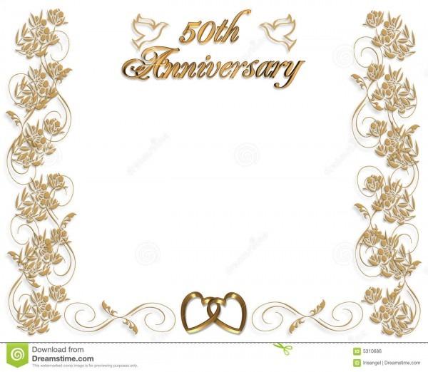 Convite do aniversário de casamento 50 anos ilustração stock